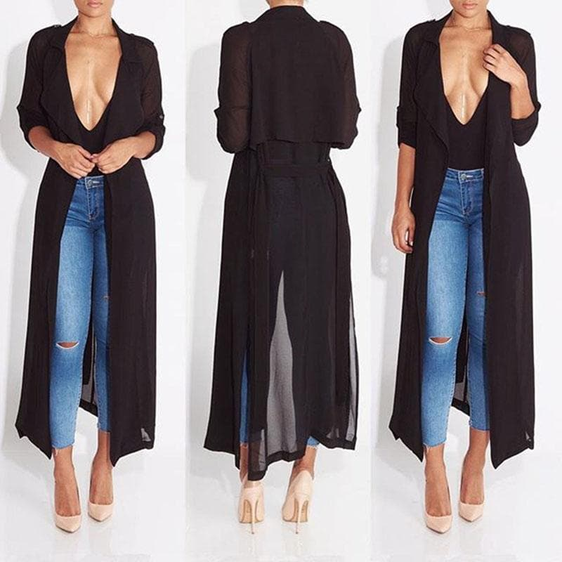 Sheer Trench Duster