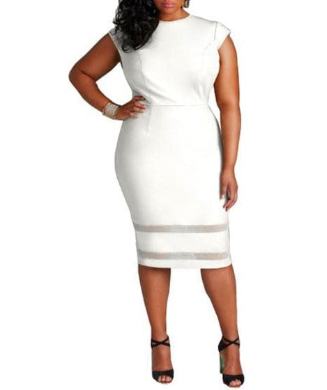 CURVY White Dress - Binge Online Boutique
