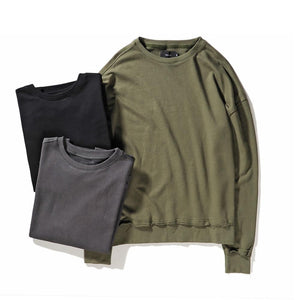 WASHED DISTRESSED SWEATSHIRT [MORE COLORS]