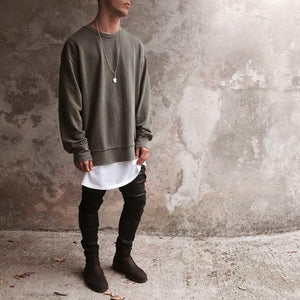 Washed Distressed Sweatshirt