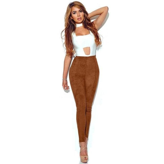 "High Waist ""Suede"" Trouser - Binge Online Boutique"