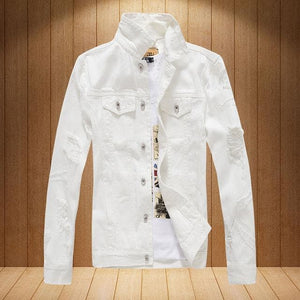 MENS White Denim Jacket