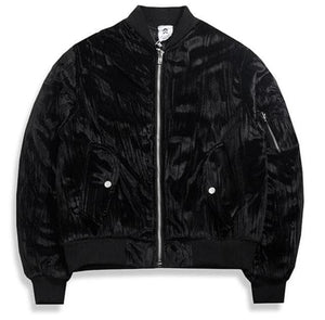 MENS CREASED VELVET BOMBER [MORE COLORS]