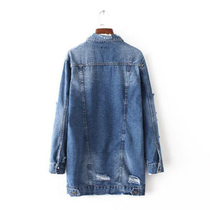 Distressed Oversized Jean Jacket