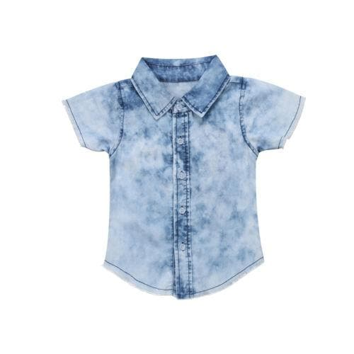 BOYS Stonewashed Jean Shirt - Binge Online Boutique