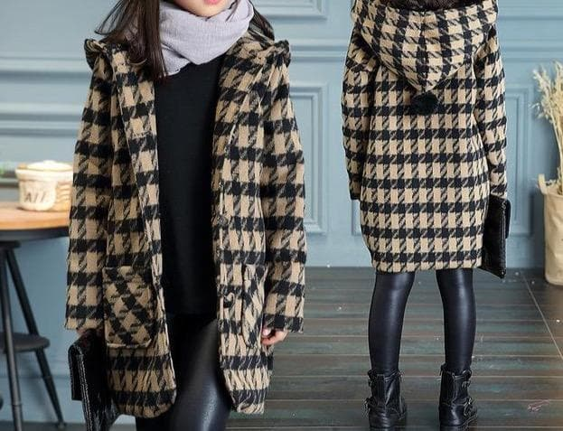 Houndstooth Coat [More Colors]