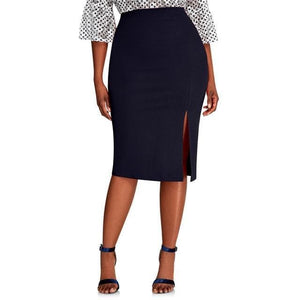 CURVY Side Split Skirt
