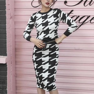 Houndstooth SET - Binge Online Boutique