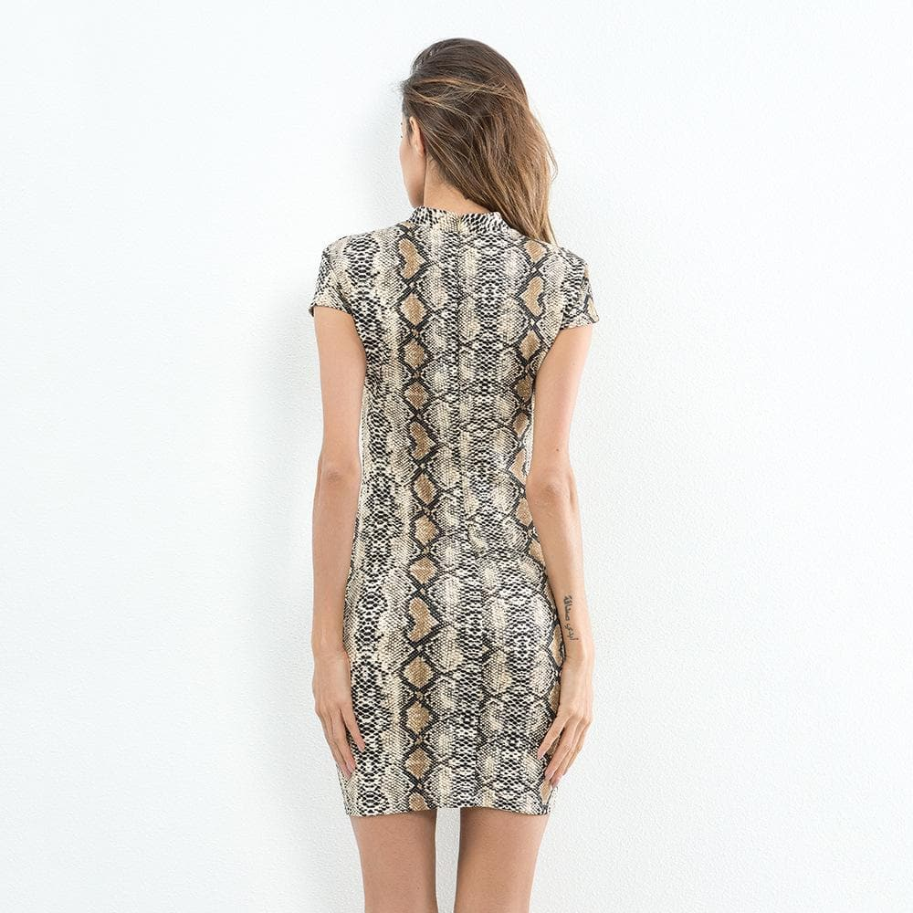 Snake Print Pencil Dress - Binge Online Boutique