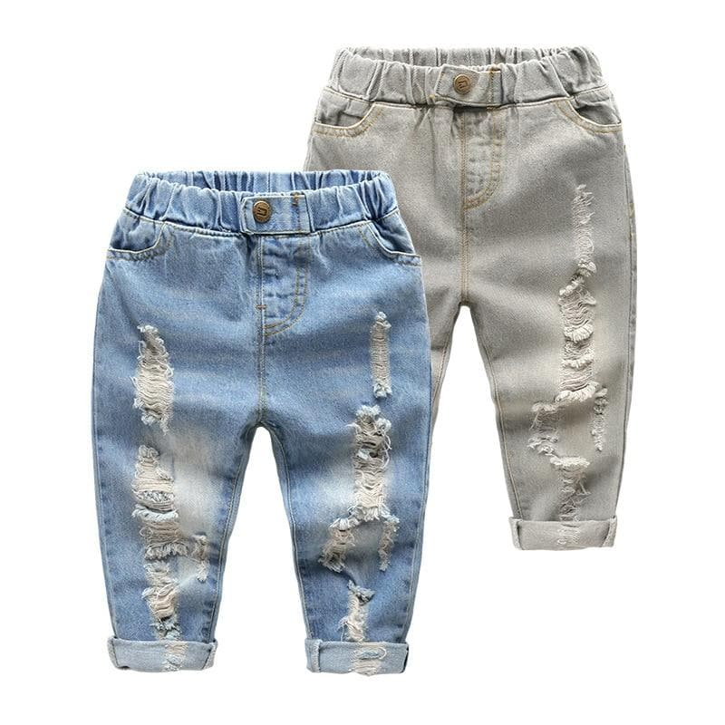 BABY BOY DISTRESSED JEANS [MORE COLORS] - Binge Online Boutique