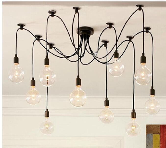 10 Heads Vintage Retro Glasses Drop Light , Chandelier , VIVA LED