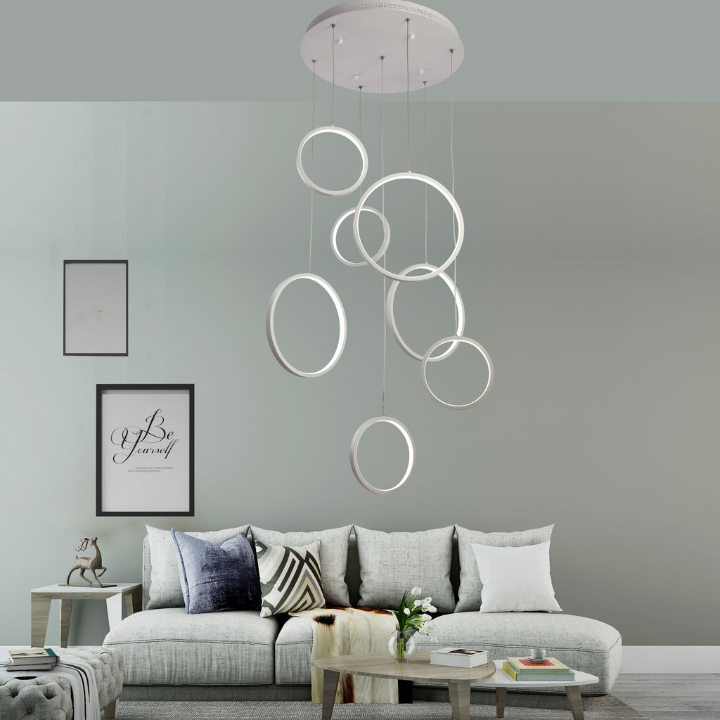 Seven V-Rings LED Pendant Light , LED Pendant Light , VIVA LED