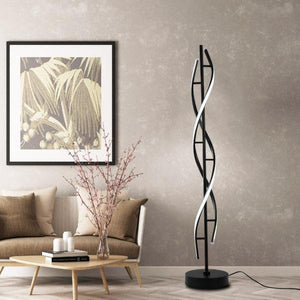 Swirl LED Floor Lamp Black , Floor Lamp , VIVA LED