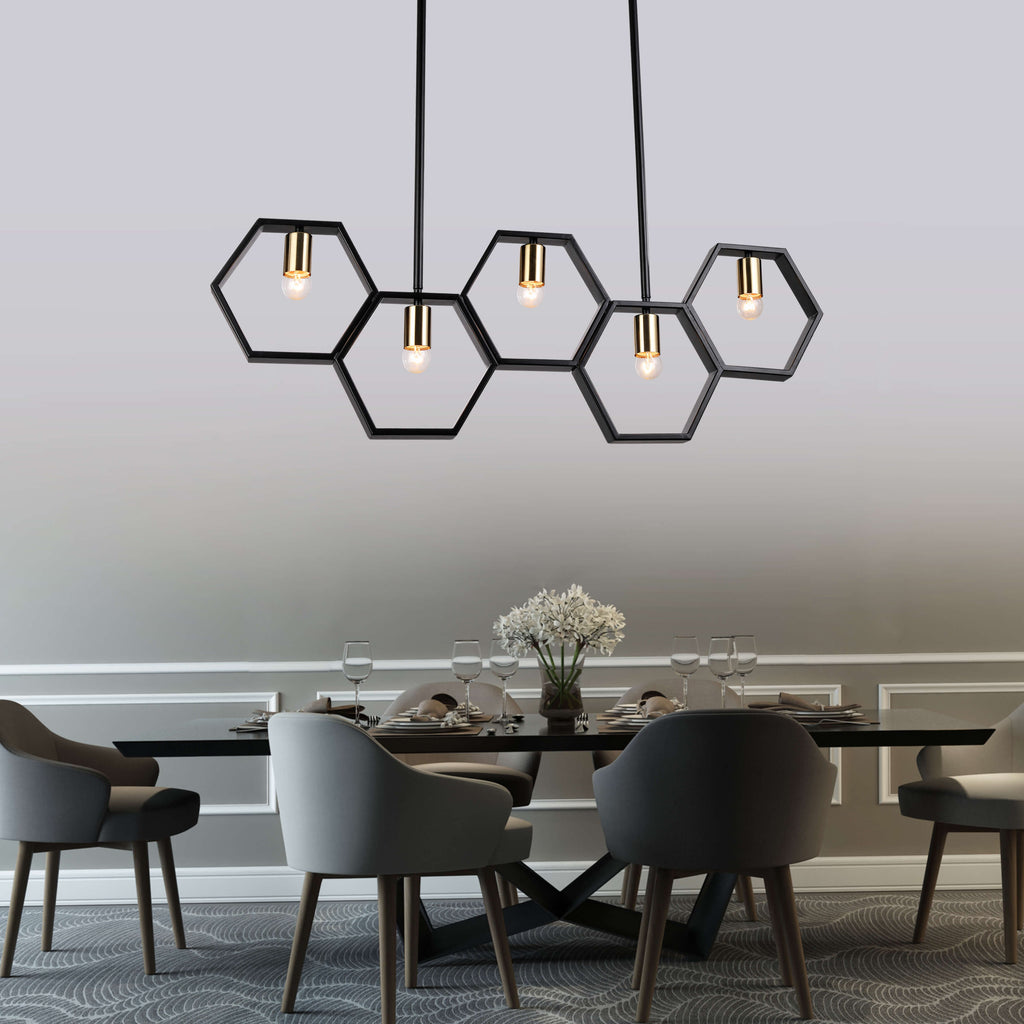 Hexagons Pendant Light Fixture , Chandelier , VIVA LED