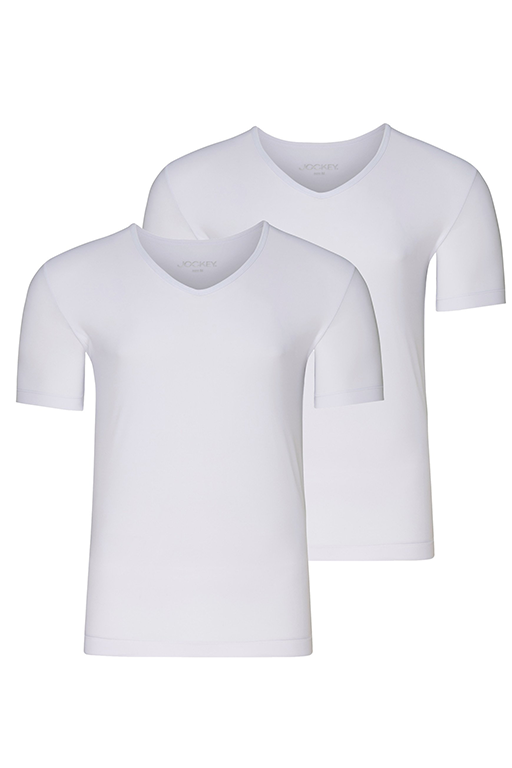 Jockey® Microfiber Air V-Neck Shirt 2Pack