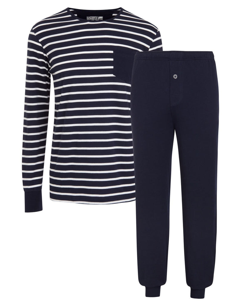 Jockey® Everyday Nautical Stripe Full Knit Pyjama