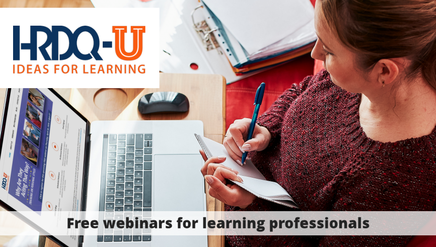 HRDQU - Free webinars for learning professionals