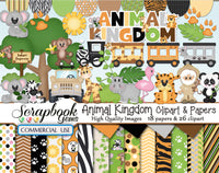 ANIMAL KINGDOM Clipart & Papers