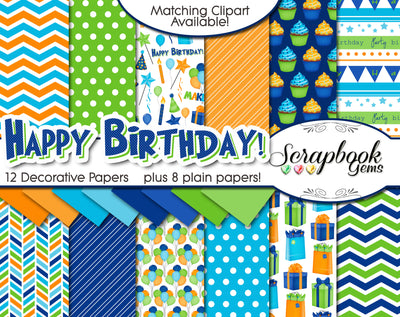 HAPPY BIRTHDAY #2 Digital Papers