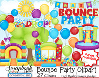BOUNCE PARTY Clipart