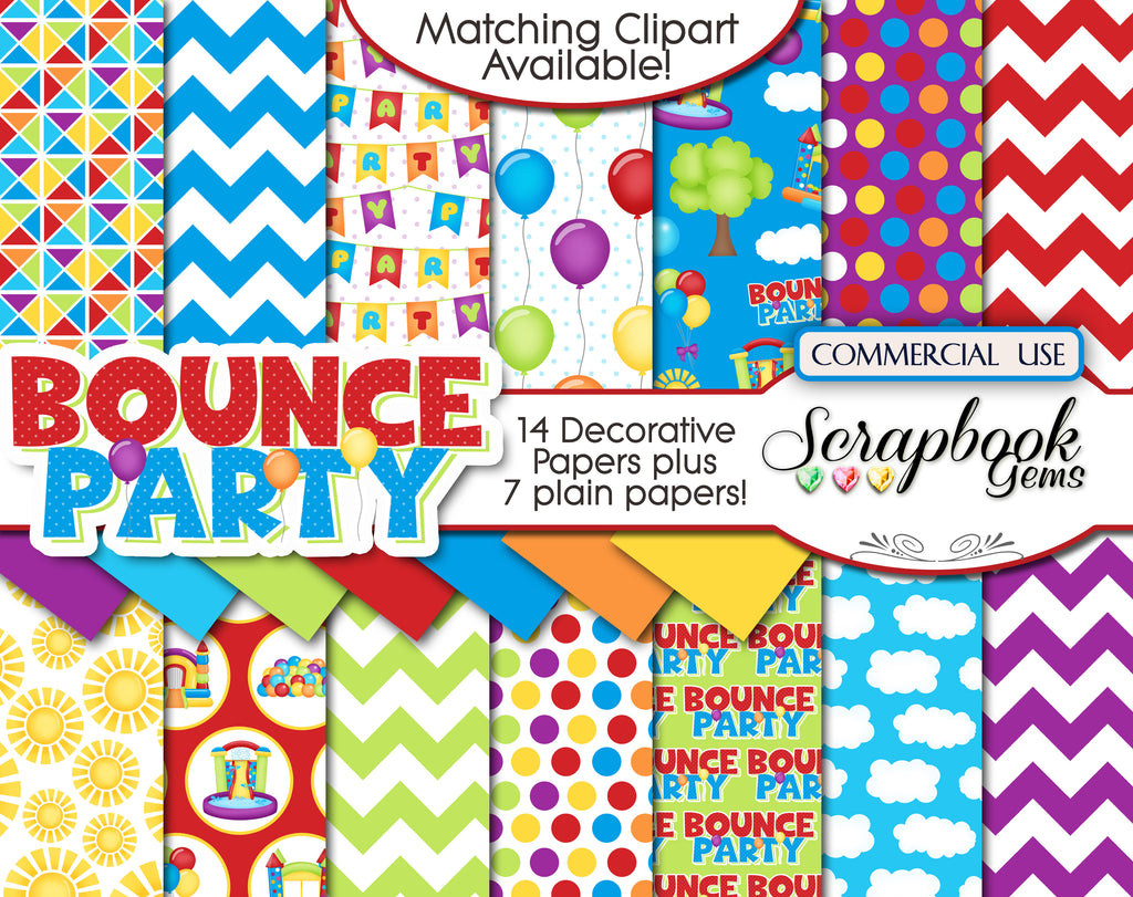 BOUNCE PARTY Digital Papers