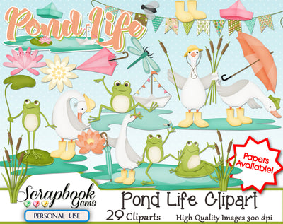 POND LIFE Clipart
