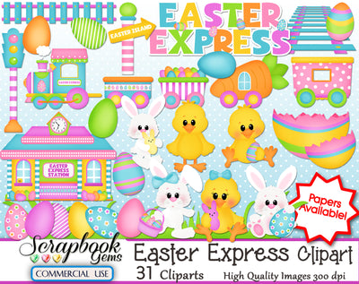 EASTER EXPRESS CLIPART