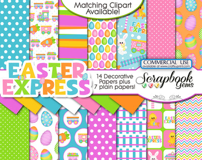 EASTER EXPRESS DIGITAL PAPERS