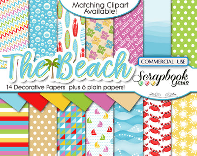 THE BEACH (Kit #2) Digital Papers