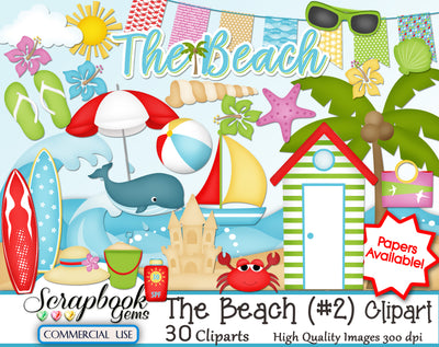 THE BEACH (Kit #2) Clipart
