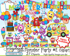 MONSTER PARTY #2 Clipart