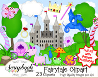 FAIRY TALE Clipart & Papers