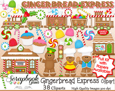 GINGERBREAD EXPRESS Clipart