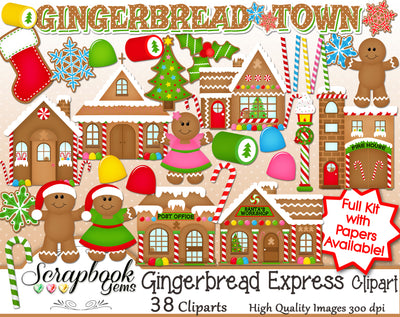GINGERBREAD TOWN Clipart