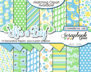IT'S A BOY Digital Papers
