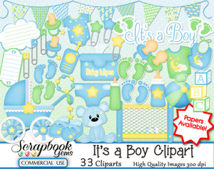 IT'S A BOY Infant Clipart