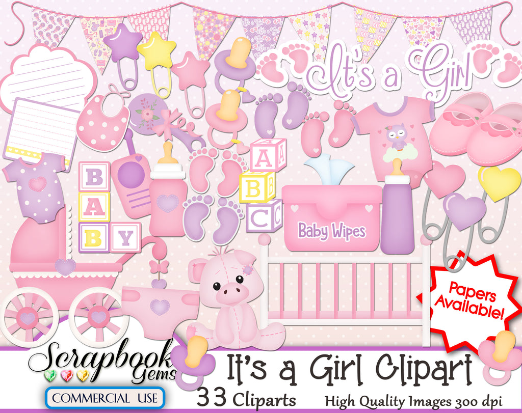 IT'S A GIRL Clipart