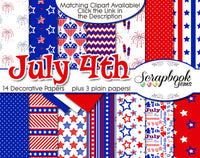 JULY 4TH Clipart & Papers