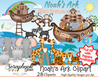 NOAH'S ARK Clipart & Papers