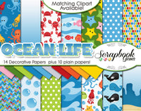 OCEAN LIFE Digital Papers
