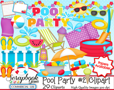 POOL PARTY (Kit #2) Clipart