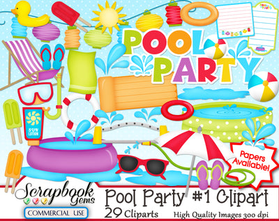 POOL PARTY (Kit #1) Clipart