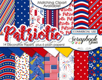 PATRIOTIC Clipart & Papers