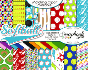SOFTBALL Sports Digital Papers