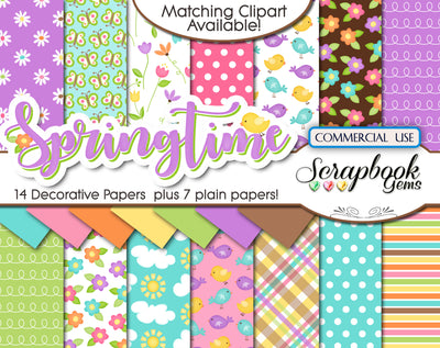 SPRINGTIME Kit #1 DIGITAL PAPERS