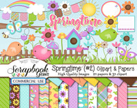 SPRINGTIME Kit #2 CLIPART AND PAPERS