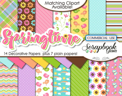 SPRINGTIME Kit #2 DIGITAL PAPERS