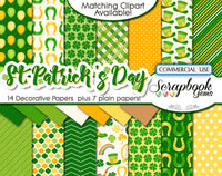 ST. PATRICK'S DAY CLIPART AND PAPERS