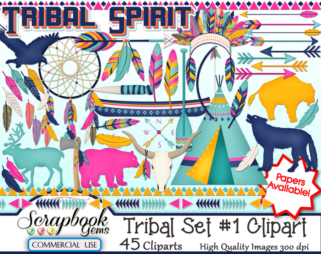 TRIBAL (Kit #1) Clipart