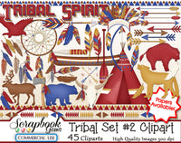 TRIBAL (Kit #2) Clipart and Papers